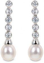Europastyle S01E-0052-Orecchini in argento 925 con perla con chiusura a farfalla a pressione