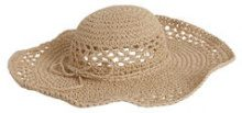 PIECES Straw Hat Women Beige