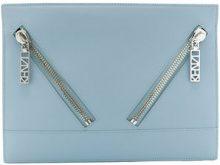 Kenzo - Clutch 'Kalifornia' - women - Nylon/Cotton/Leather - OS - BLUE
