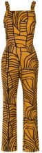 Andrea Marques - printed jumpsuit - women - Cotton/Spandex/Elastane - 44, 36, 38, 40 - YELLOW & ORANGE