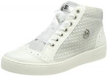 Bugatti 421291315969, Sneaker a Collo Alto Donna, Bianco (White/Light Grey), 38 EU