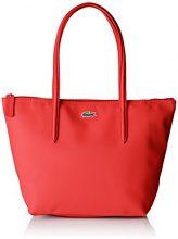 Lacoste NF2037PO, Borsa a Tracolla Donna, RED Alto Rischio (High Risk Red), 24.5 x 14.5 x 23.5 cm