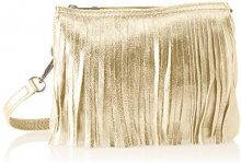 Chicca Borse 1612, Borsa a Spalla Donna, Oro, 28x16x5 cm (W x H x L)