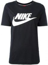 Nike - T-shirt con logo - women - Polyester/Modal - M, L, XL, XXL - BLACK