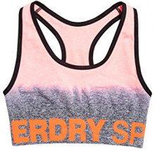 Superdry SD Sport Seamless Ombre, Canottiera Sportiva Donna, Grigio (Grey/Candy Coral), X-Small (Taglia Produttore:8)