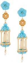 Of Rare Origin - Orecchini 'Aviary Classic' - women - 18kt Gold Vermeil - OS - BLUE