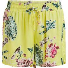 VILA Patterned Shorts Women Yellow