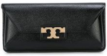 Tory Burch - 'Gigi' clutch - women - Calf Leather/Patent Leather - OS - BLACK