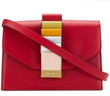 Visone - Clutch blocchi di colore - women - Leather - OS - RED