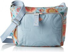 Oilily Charm Sunflower Shoulderbag Mhz - Borse a spalla Donna, Blu (Light Blue), 13x23x27 cm (B x H T)