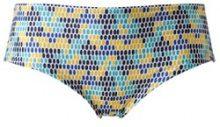 Shorty per bikini a pois multicolore