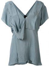 Marni - Blusa drappeggiata - women - Viscose - 42, 44 - BLUE