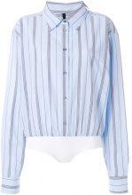 Unravel Project - Body stile camicia a righe - women - Cotton/Viscose/Polyamide/Spandex/Elastane - 40, 42, 44, 38, 36 - BLUE