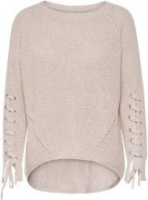 ONLY Detailed Knitted Pullover Women Beige