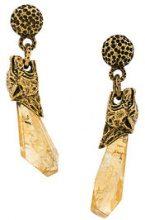 Prada - Tiger stone earrings - women - Silver - OS - METALLIC
