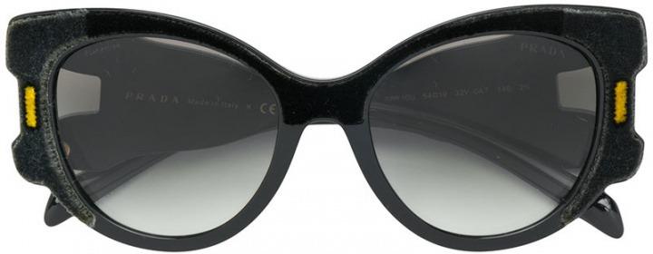 Women Prada Acetatovelluto Oversized Sole Eyewear Da Occhiali Zvx6aqXv
