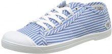 Le Temps des Cerises Basic 02_Femme, Sneaker Donna, Bleu (Strip Blue), 38 EU