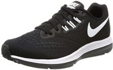 Nike Wmns Air Zoom Winflo 4, Scarpe Running Donna, Nero (Black/White/Dk Grey), 40.5 EU