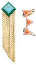 Fendi - Rainbow earring set - women - Brass - One Size - METALLIC