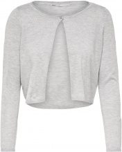 ONLY Short Knitted Cardigan Women Grey