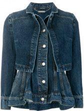 Alexander McQueen - Giacca denim a strati - women - Cotton - 40, 42, 44 - BLUE