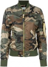 Alpha Industries - Bomber con stampa camouflage - women - Nylon - XS, S, M - GREEN