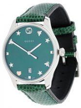 Gucci - Orologio G-Timeless - women - stainless steel/Lizard Skin - OS - GREEN