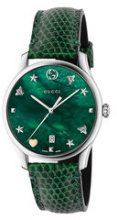 Gucci - Orologio 'G-Timeless 36mm' - women - Lizard Skin/Steel - One Size - GREEN