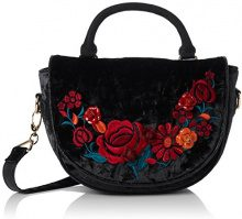 Irregular Choice Casa Blanka Bag - Borse a mano Donna, Black, 11x18x25 cm (W x H L)