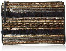 Pennyblack Selenio, Pochette da Giorno Donna, Multicolore (Fantasia Nero), 30x21x1 cm (W x H x L)