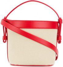 Nico Giani - Borsa a spalla con secchiello - women - Cotton/Leather - OS - RED