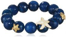 Misis Donna-Bracciale  Angel Argento 925 Zirconi bianchi  agata blu 20 cm - BR07779
