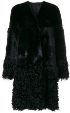 Desa Collection - Cappotto con scollo a V - women - Sheep Skin/Shearling - 40 - BLACK