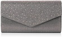 Swankyswans Montary busta pochette, strass, pochette, Grigio (Grey (Grey)), Taglia unica