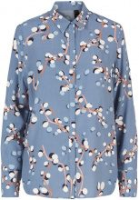 Y.A.S Floral Printed Shirt Women Blue