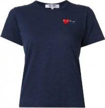 Comme Des Garçons Play - T-shirt con cuore ricamato - women - Cotton - L - BLUE