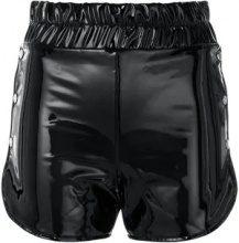 Danielle Guizio - Shorts in vernice - women - Polyurethane/Polyester - XS, S - BLACK
