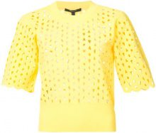 Derek Lam - Cropped Short Sleeve Top - women - Viscose/Polyester - XS, S, M, L - Giallo & arancio