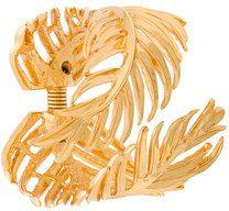 Oscar de la Renta - Palm leaf bracelet - women - Brass/Pewter - OS - METALLIC