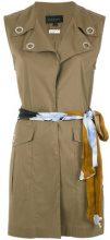 Alcaçuz - embellished cape - women - Cotton/Polyamide/Spandex/Elastane - 36, 38, 40, 42, 44, 46 - BROWN