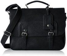 Aldo Norman - Borse per PC portatili Uomo, Black, 18x28x38 cm (W x H L)