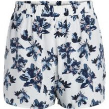 PIECES Printed High Waist Shorts Women White