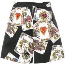Dolce & Gabbana - Shorts con carte stampate - women - Cotton/Spandex/Elastane - 44, 38, 40, 42 - MULTICOLOUR
