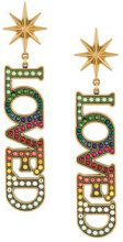 Gucci - Loved earrings - women - Brass/Crystal - OS - MULTICOLOUR