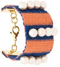 Marni - Braccialetto a righe intrecciato - women - Cotone/Plastic - One Size - Multicolore