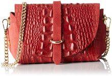 Chicca Borse 10031, Borsa a Spalla Donna, Rosso, 18x11x8 cm (W x H x L)