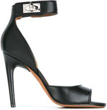 Givenchy - Sandali 'Shark Lock' - women - Calf Leather/Leather - 38, 36, 37.5, 39, 36.5, 38.5, 35.5 - Nero