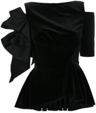 Talbot Runhof - Top 'Nazan' - women - Silk/Polyester/Spandex/Elastane - 32, 36, 38, 40 - BLACK
