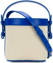 Nico Giani - Borsa a secchiello 'Adenia' - women - Calf Leather/Cotton - OS - BLUE