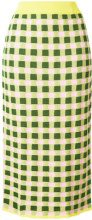 Antonio Marras - gingham midi pencil skirt - women - Cotton/Polyester/Viscose - 46, 40, 44 - YELLOW & ORANGE